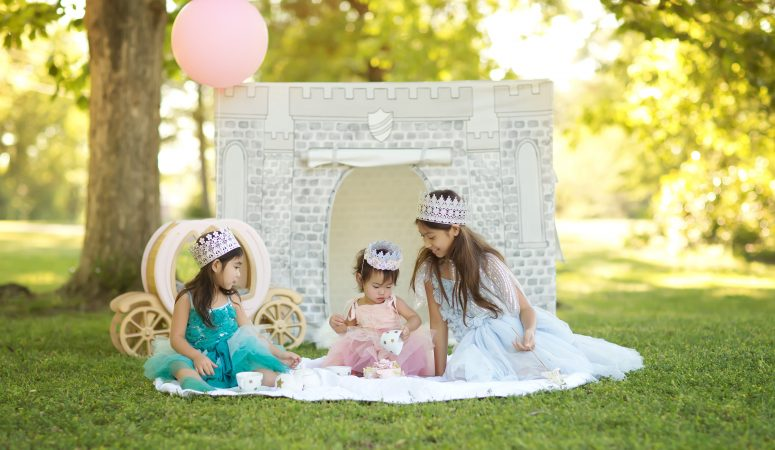 Lucy's Princess Tea Party  | Milestone Session | Fayetteville NC Photographer