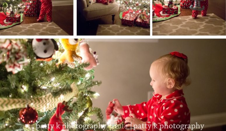 Penelope | Night Before Christmas Session | Greensboro, NC Photographer | Patty K Photography
