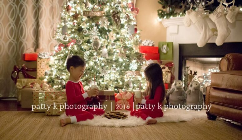 H Family | Night Before Christmas Session | Greensboro, NC Photographer | Patty K Photography