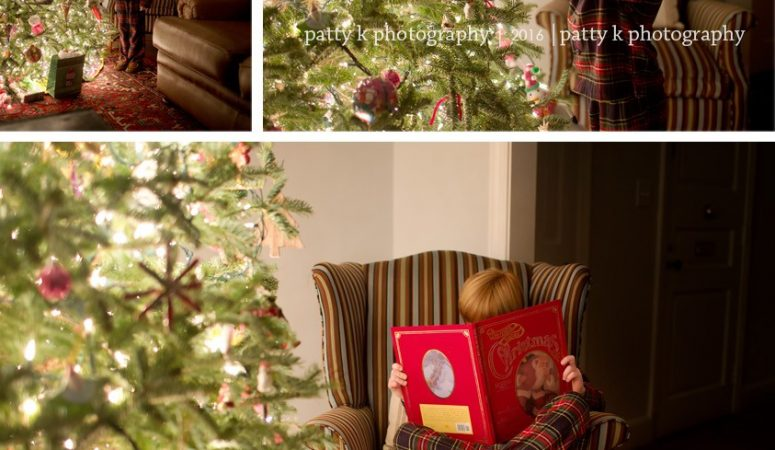 Asher | Night Before Christmas Session | Greensboro, NC Photographer | Patty K Photography