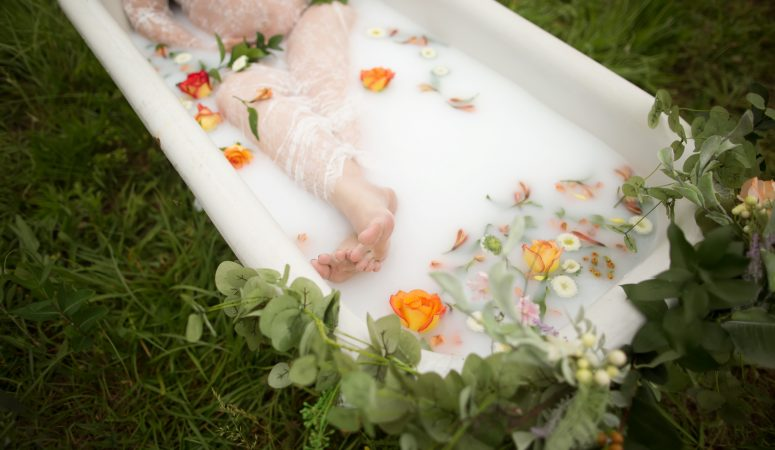 Milk Bath in a Field is Everything | Maternity Photographer | Greensboro NC Photographer