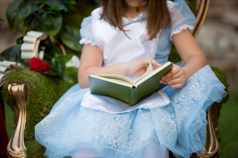 Sisters in Wonderland   Imagination Session   Greensboro NC Child Photographer