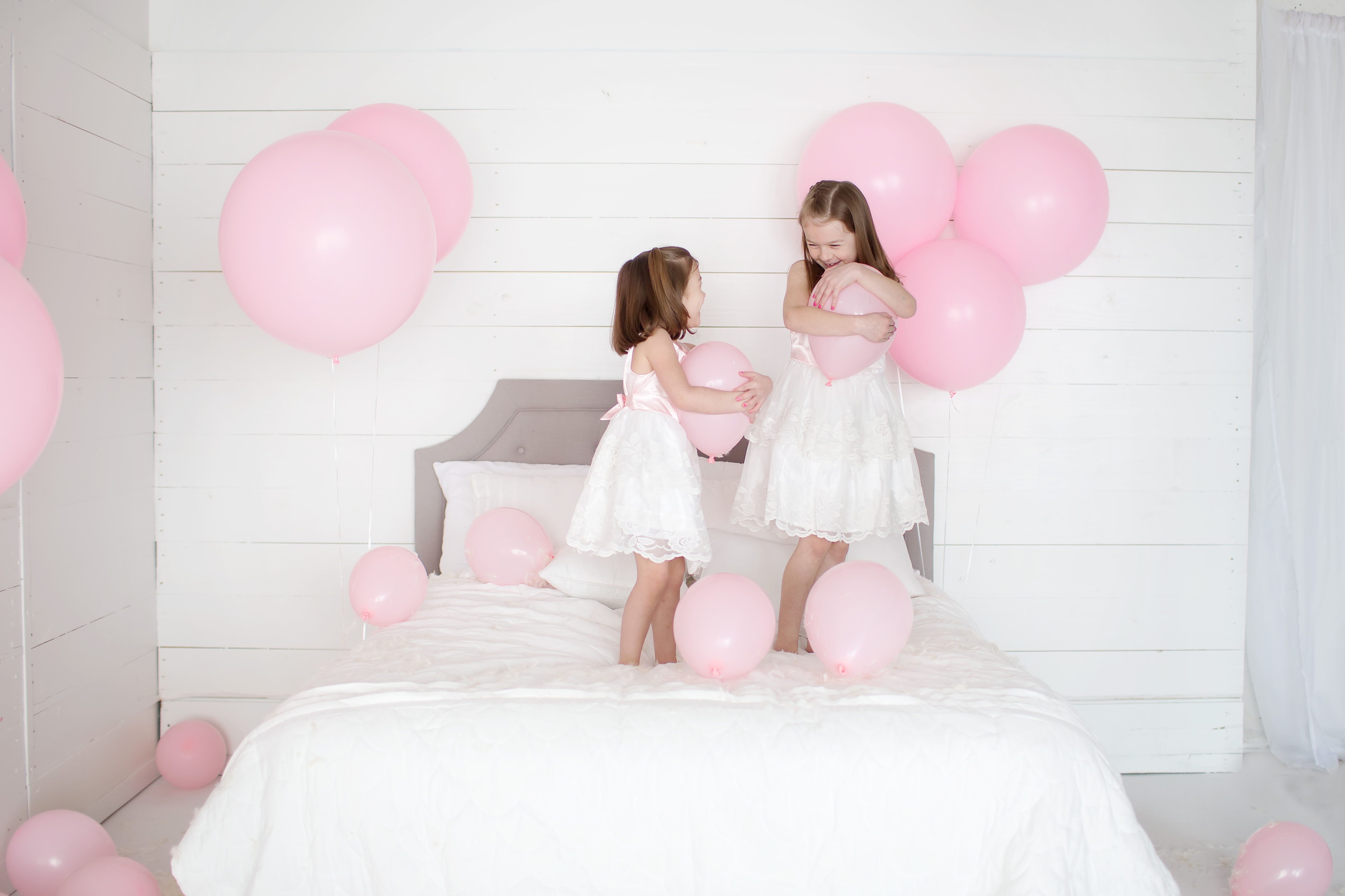 Its a Cat Party | Balloons & Feathers | Greensboro NC Child Photographer