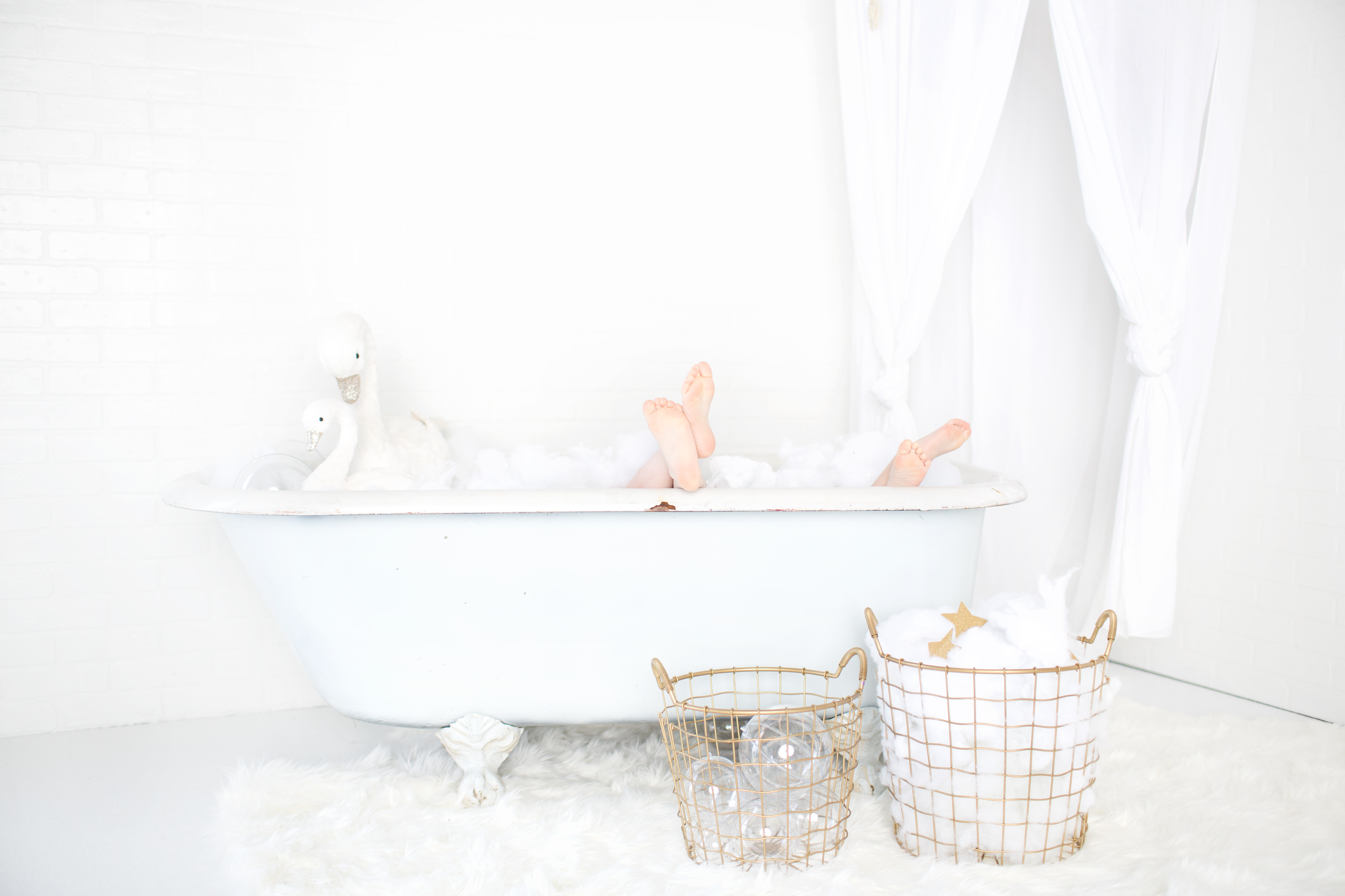 A Cloud Bath for Two | Stars & Clouds | Greensboro NC Child Photographer