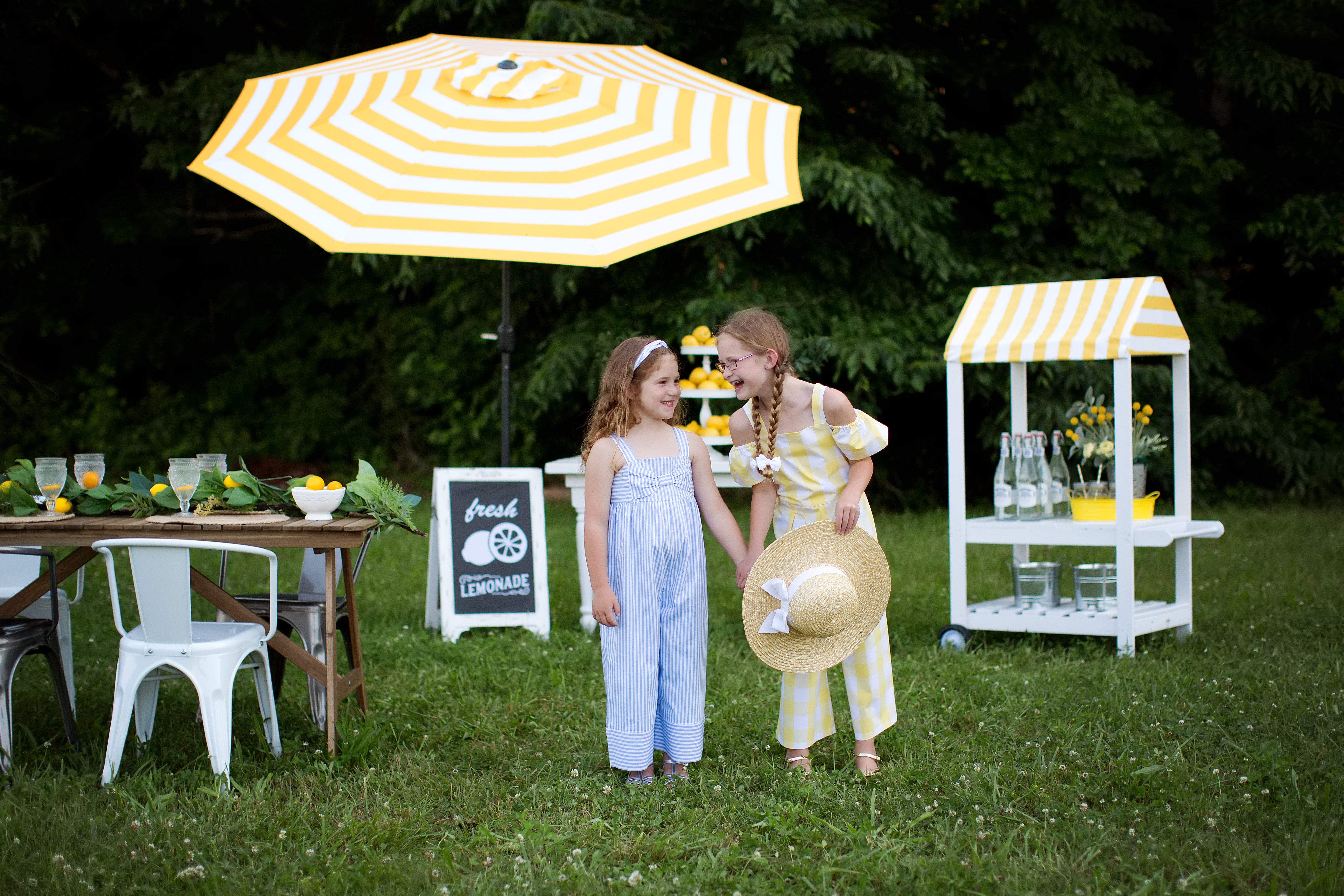Its a Lemon Party | Lemons & Dots Mini Session | Greensboro NC Child Photographer