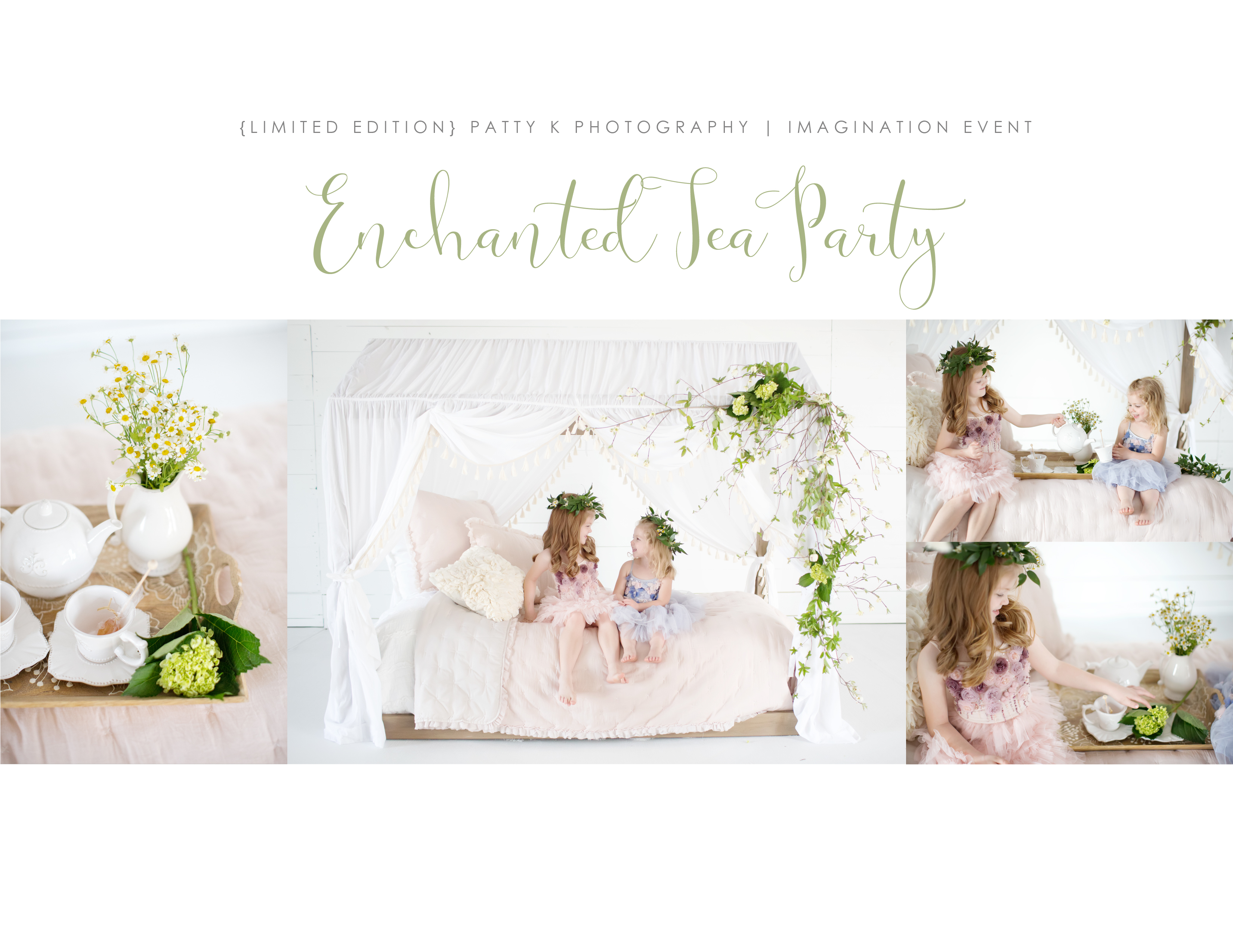 Enchanted Tea Party | Petite Session Preview | Greensboro NC Child Photographer