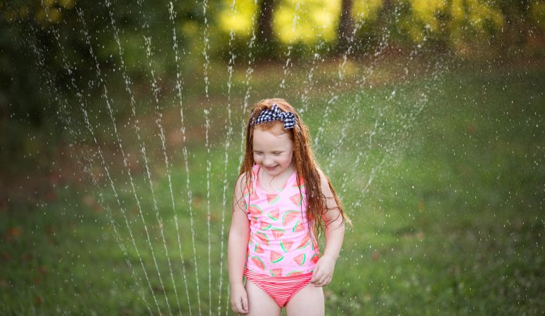 One in a Melon | Sprinkler Sessions | Greensboro NC Child Photographer