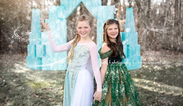 A Winter princess | Imagination petite session | Greensboro nc child photographer