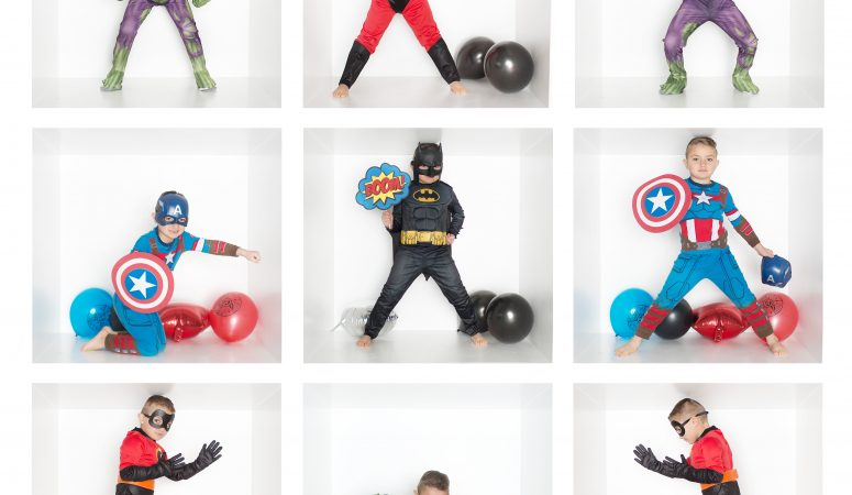 SUPER HERO BOX SESSIONS | GREENSBORO NC CHILD PHOTOGRAPHER | IMAGINATION MINI SESSIONS