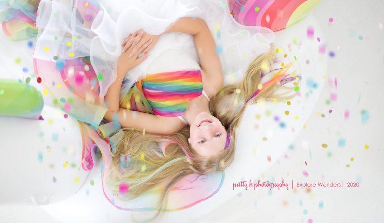 Rainbows & Unicorns | Imagination mini sessions | Greensboro NC child photographer