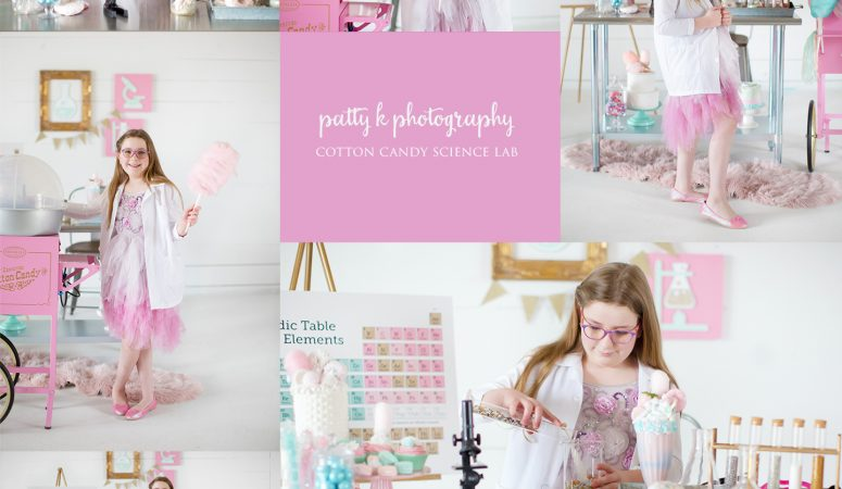 COTTON CANDY SCIENCE LAB | IMAGINATION MINI SESSION | GREENSBORO NC CHILD PHOTOGRAPHER