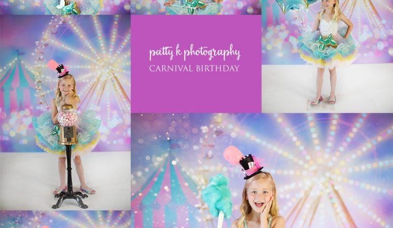 CARNIVAL BIRTHDAY   IMAGINATION SESSIONS   GREENSBORO NC CHILD PHOTOGRAPHER